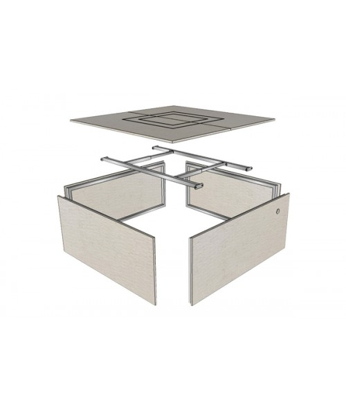 Firegear Assemble and Finish Square Fire Pit