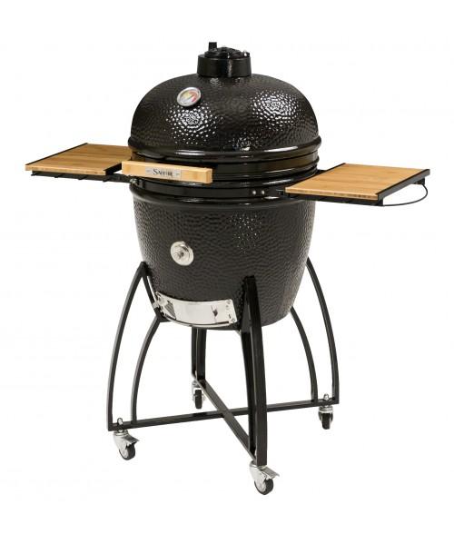 """Saffire 19""""  Bronze Series Smoker Grill on Cart"""