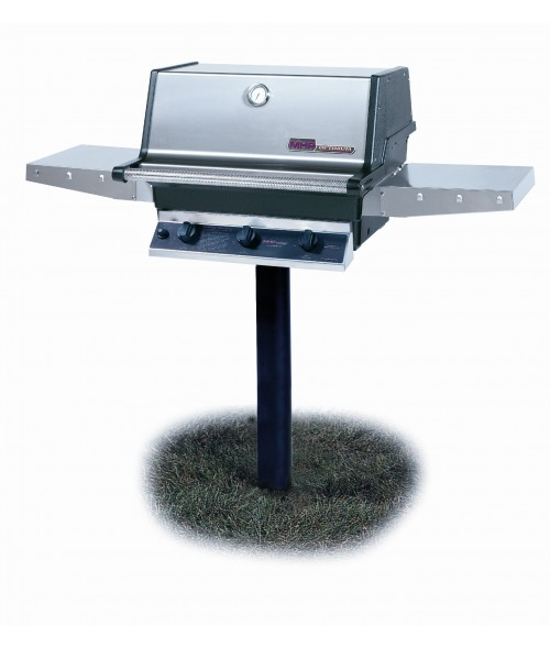 MHP Heritage Series THRG2 Hybrid In-Ground Post Gas Grill (574 sq in)