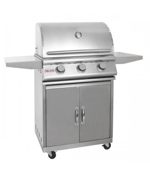 Blaze 25 Inch 3-Burner Grill on Cart