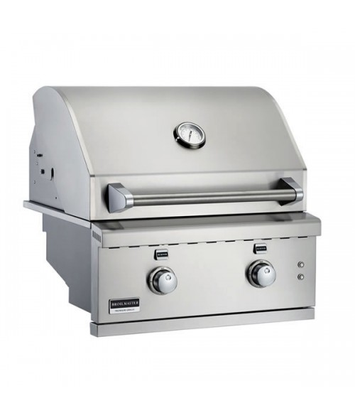 "Broilmaster 26"" Stainless Steel Built-in Gas Grill"