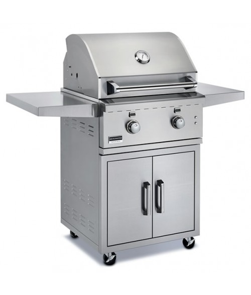 "Broilmaster 26"" Stainless Steel Gas Grill on Cart"
