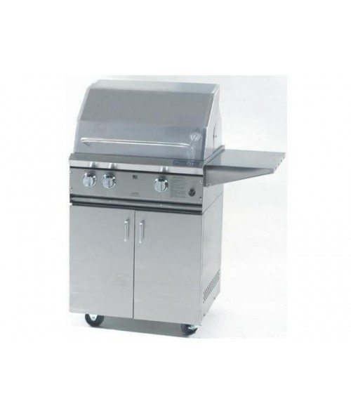 ProFire Professional Series 27 Inch Hybrid Gas Grill w/ Rotisserie & Side Burner on Cart (525 sq in)