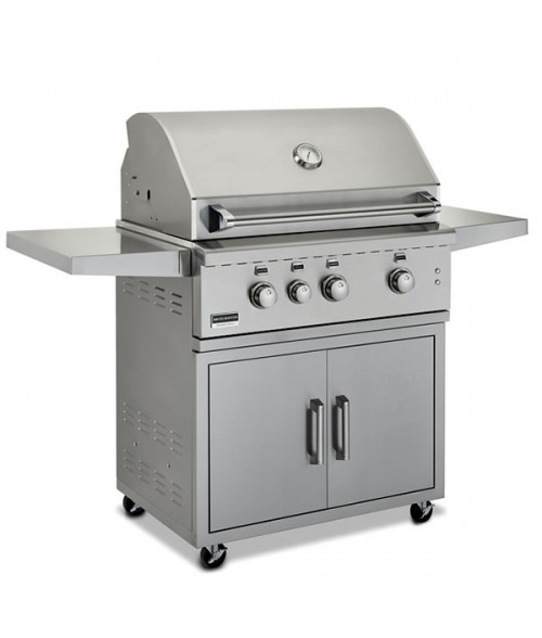 "Broilmaster 34"" Stainless Steel Gas Grill on Cart"