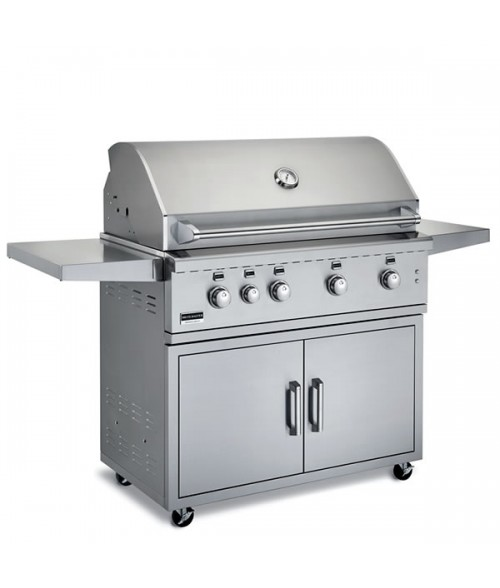 "Broilmaster 42"" Stainless Steel Gas Grill on Cart"