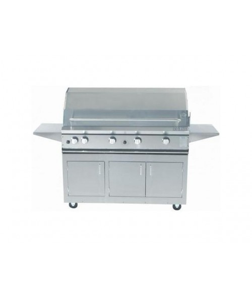 ProFire Professional Series 48 Inch Hybrid Gas Grill With Double Side Burner on Cart (714 sq in)