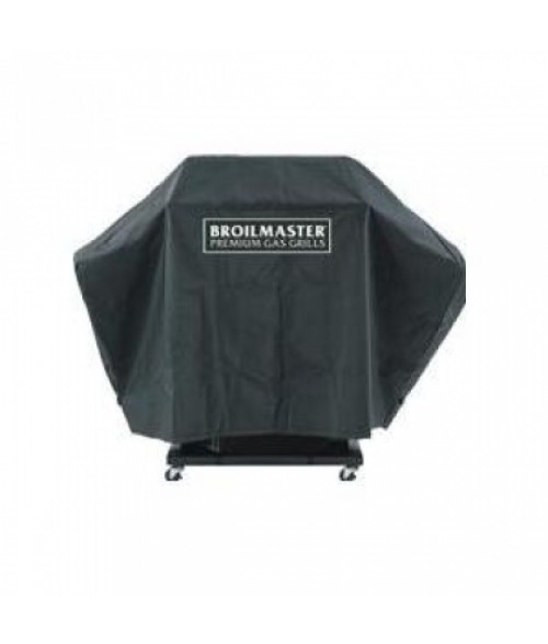 Broilmaster DPA110 Full Length Premium Grill Cover For P, T, And R Series Grills On Cart With Two Side Shelves