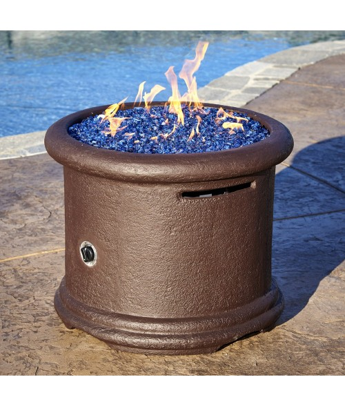American Fireglass Island Chat Height Fire Pit