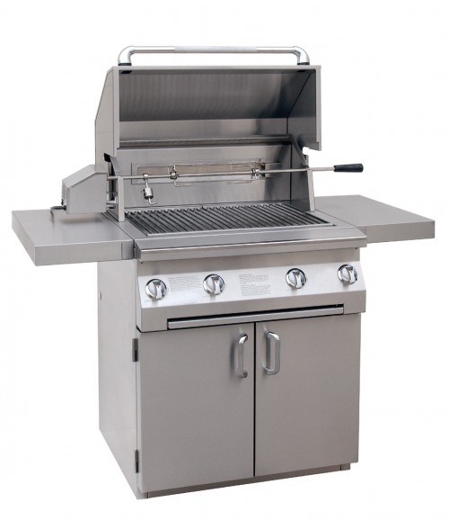 "Solaire 30"" All Infrared Gas Grill on Cart W/ Rotisserie AGBQ-30CIR (703 sq in)"
