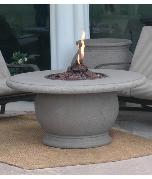 Peterson American Fyre Designs Amphora Firetable with Concrete Top