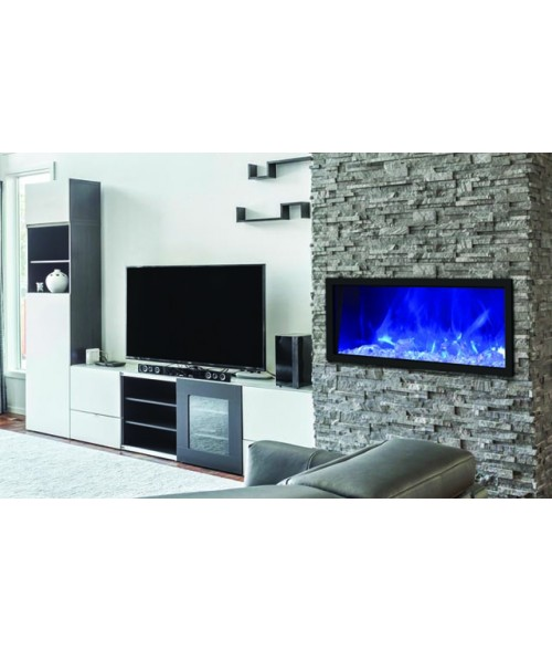 Amantii Panorama 40″ Slim Indoor or Outdoor Electric Fireplace