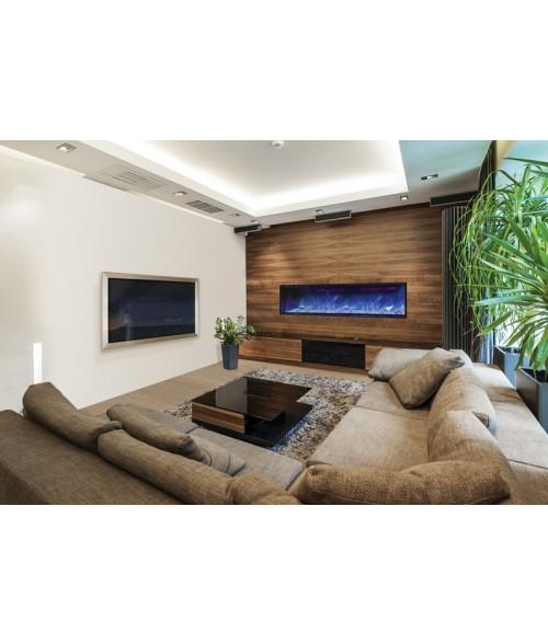 Amantii Panorama 72″ Deep Indoor or Outdoor Electric Fireplace