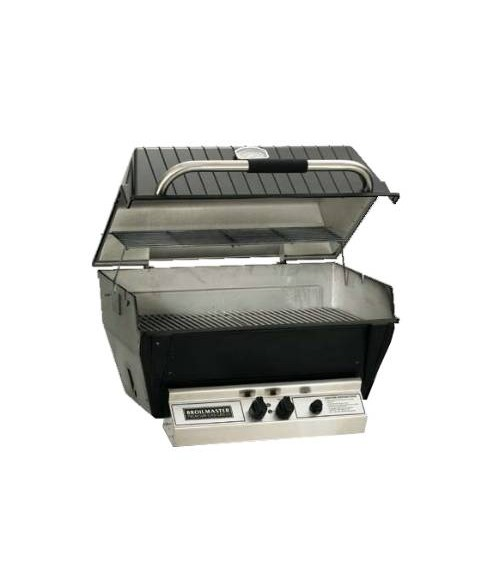 broilmaster h3x h series deluxe gas grill head charmaster briquets 653 sq in - Broilmaster