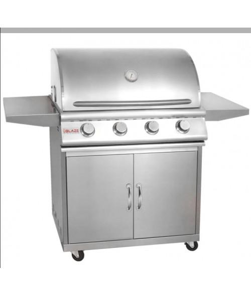 Blaze 32 Inch 4-Burner Grill on Cart