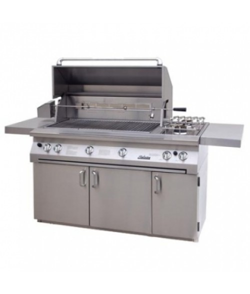 "Solaire 56""  All Infrared Gas Grill on Cart w/ Rotisserie And Double Side Burner AGBQ-56C (1027 sq in)"