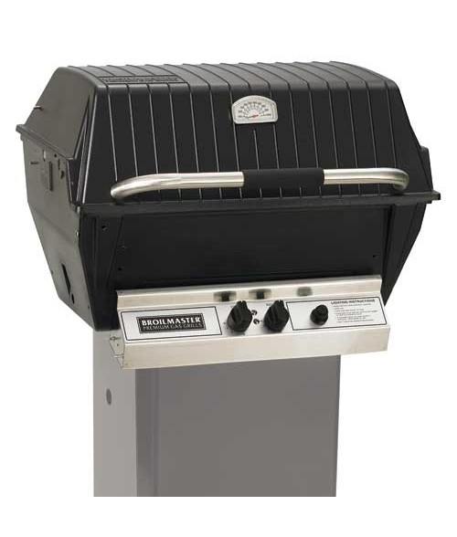 Broilmaster P4-X Premium Gas Grill with Charmaster Briquets on Cart (473 sq in.)