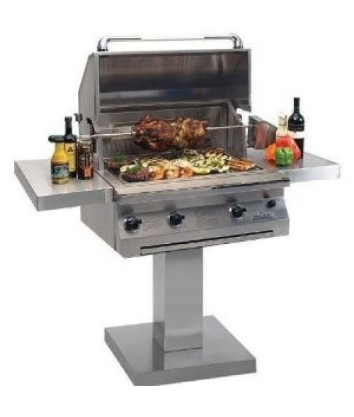 "Solaire 30"" All Infrared Gas Grill on Post W/ Rotisserie AGBQ-30IR (703 sq in)"