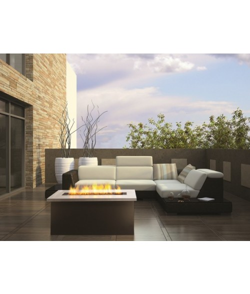 Firegear Key West Outdoor Gas Fire Pit Coffee Table with Clear Fire Glass