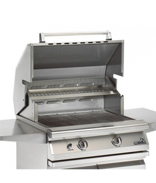 "PGS Legacy Newport Gourmet 30"" Built-In Gas Grill w/ Infrared Rear Burner & Rotisserie (740 sq in)"