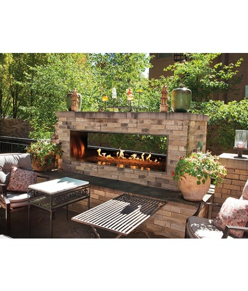 """Empire Carol Rose Outdoor Vent-free See-thru Linear Fireplace (48"""" or 60"""")"""