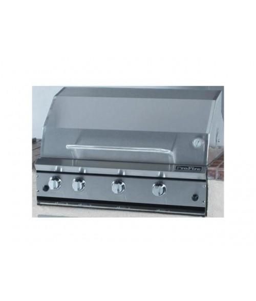 "ProFire Professional Series 36"" Gas Grill w/ Rear Broiler & Rotisserie- PF36R (714 sq in)"