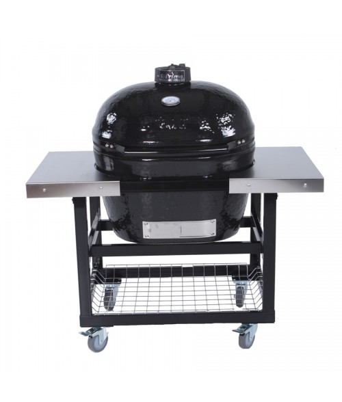 Primo Oval Extra Large Grill w/ Cart & Side Table - Kamado XL (400-830 sq in)