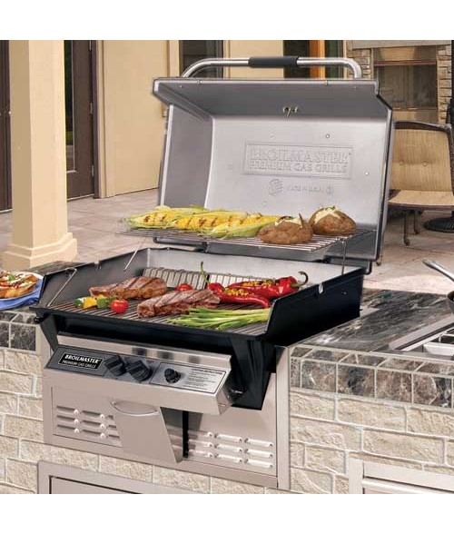 Broilmaster R3B Premium Infrared Combination Gas Grill Built In (695 sq in.)