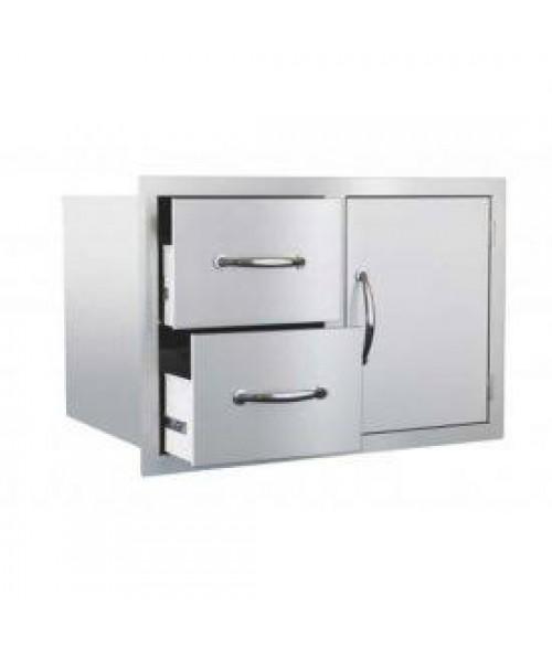 Summerset Grills Ssdc-1 Door/2-Drawer Combo