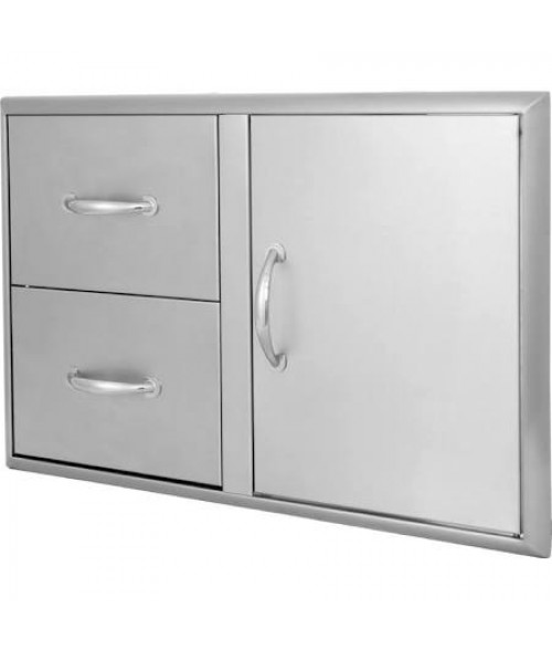 Blaze BLZ-DDC 32 Inch Access Door & Double Drawer Combo