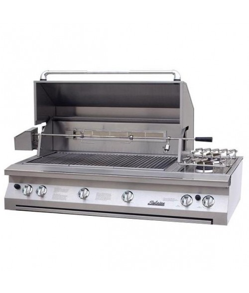 "Solaire 56"" Built-In All Infrared Gas Grill w/ Rotisserie And Double Side Burner AGBQ-56 (1027 sq in)"