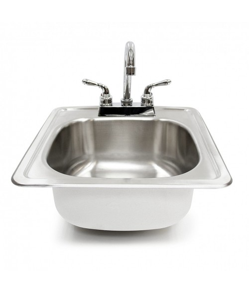 Summerset Stainless Steel 15 in. X 15 in. 6 in deep Sink & Faucet