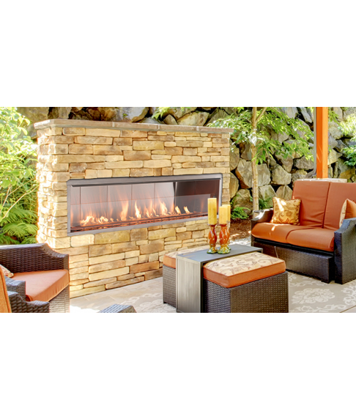 Charmant Superior VRE4600 Vent Free Outdoor Linear Fireplace (See Thru Compatible)  (36