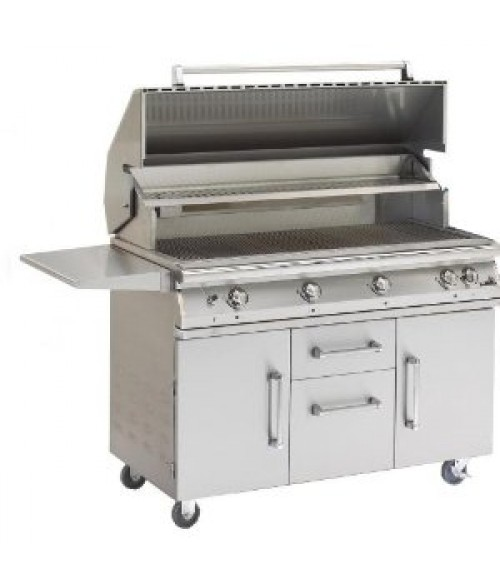 "PGS Legacy Big Sur 51"" Gas Grill on Cart w/ Infrared Rear Burner & Rotisserie (1296 sq in)"