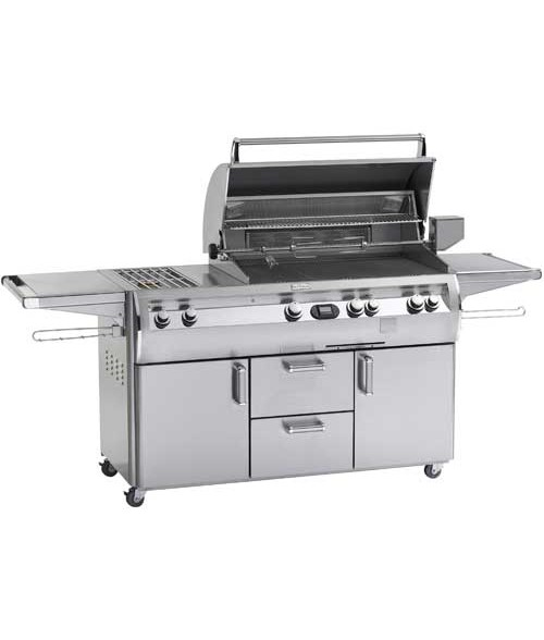 "FireMagic E660S-4E1-71 Echelon Diamond E660s Grill with Hot Surface Ignition, Rotisserie Backburner and Double Side Burner (660 sq in  30"" x 22"")"